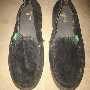 Sanuk corduroy slip on shoes